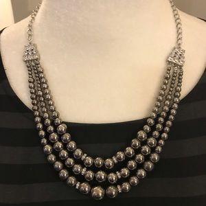 Lia Sophia Faux Pearl and Rhinestone Necklace